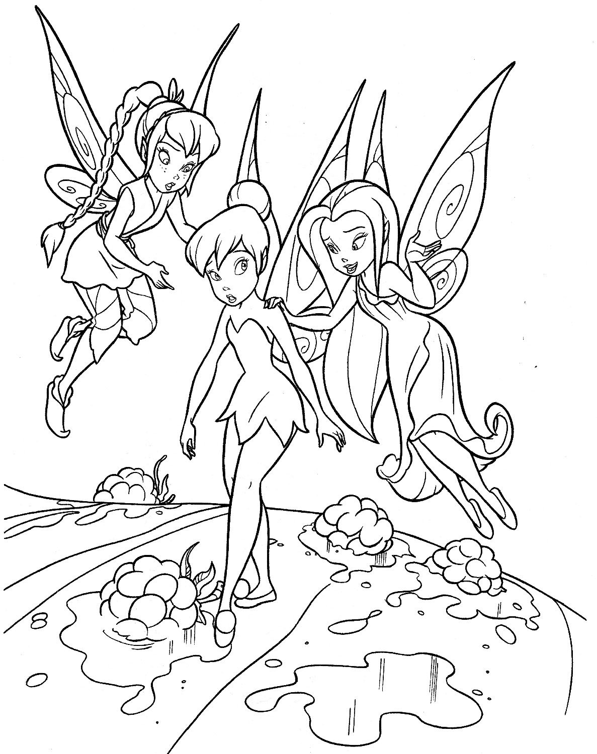 Friends Character Tinkerbell Fairies Coloring Pages 30774
