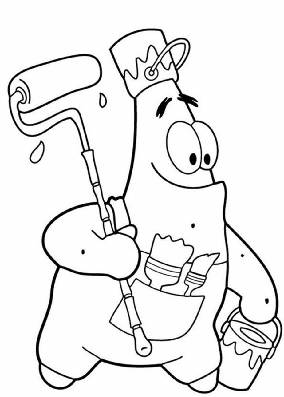 Funny Patrick Star Coloring Pages Spongebob Cartoon