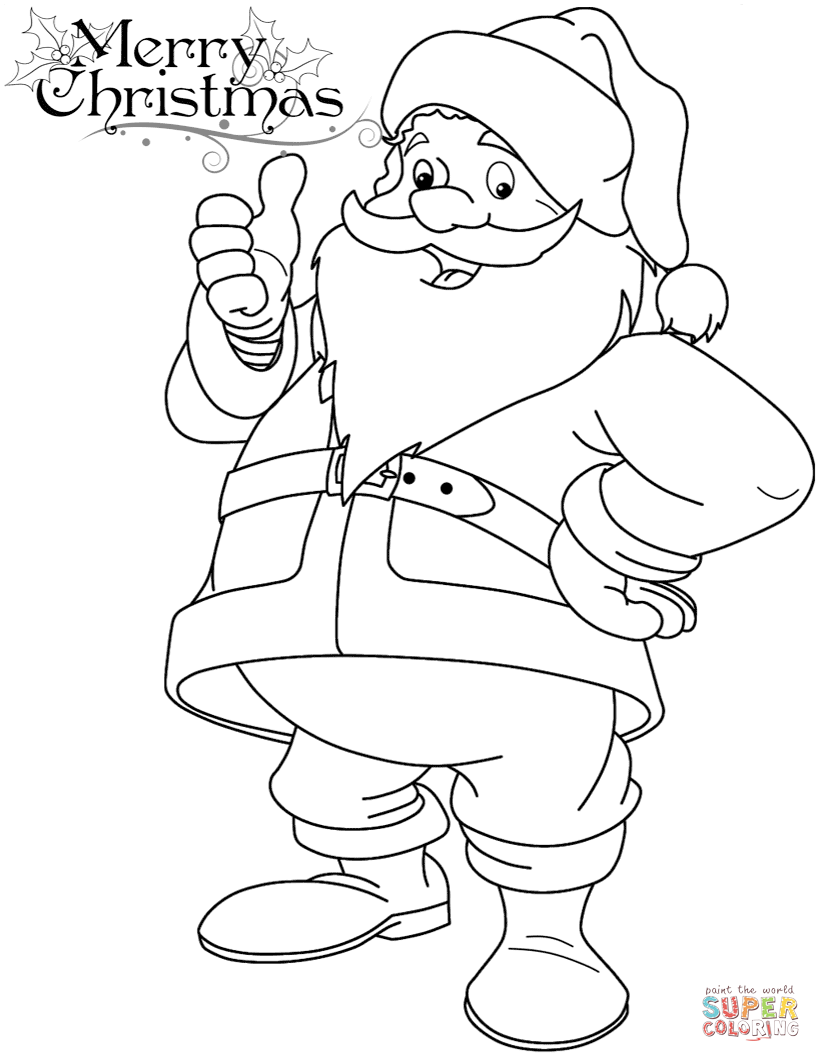 Funny Santa Claus Coloring Page New Coloring Pages Of