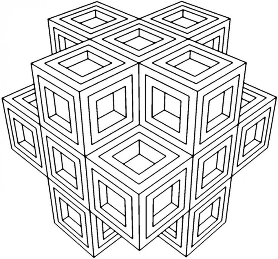 20+ Free Printable Geometric Coloring Pages