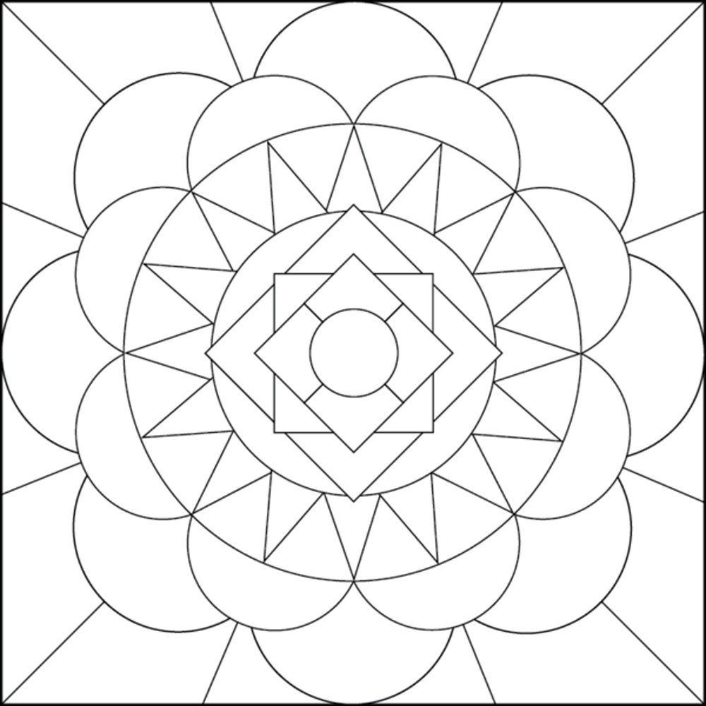 Geometric Coloring Pages Lines And Curves