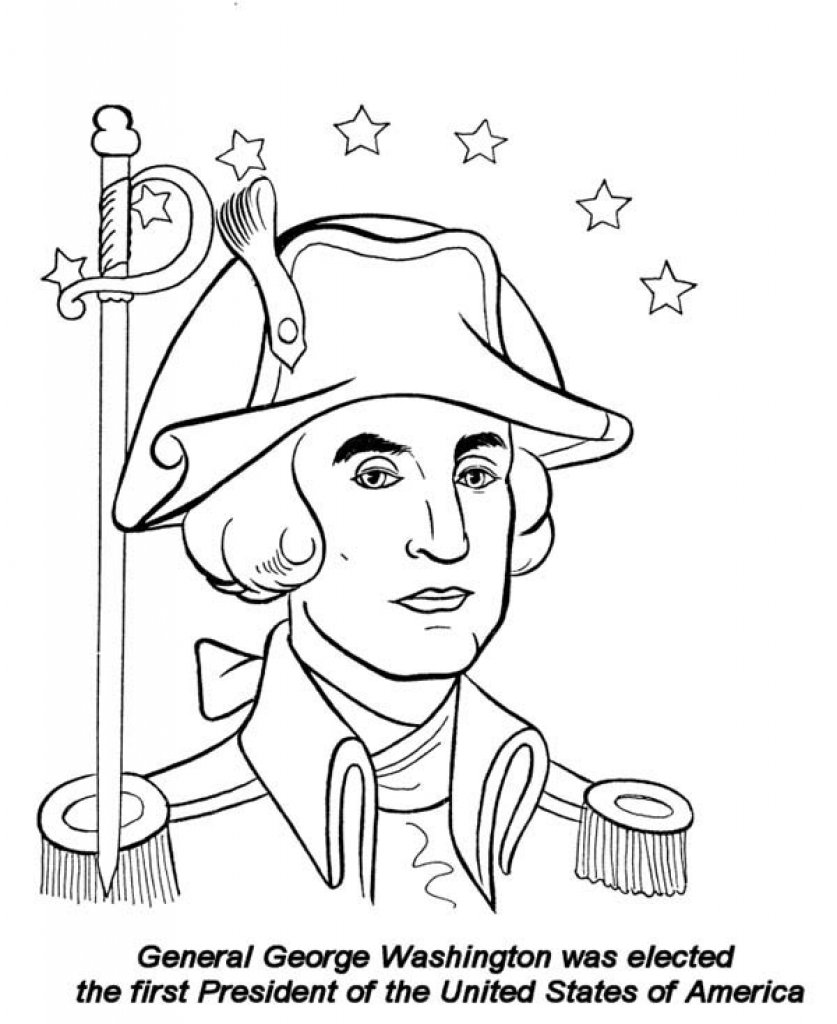 George Washington Coloring Page Within