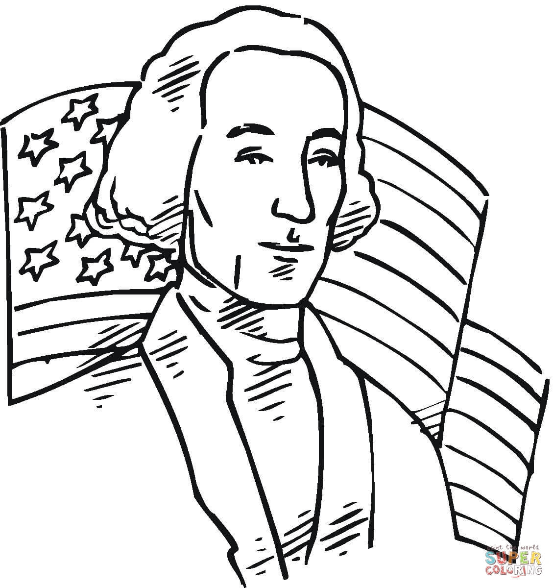 George Washington First President Of The Usa Coloring Page At