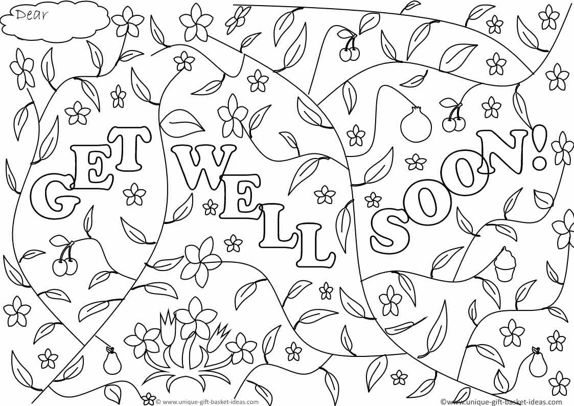 Download Coloring Pages  Get Well Coloring Pages  Get Well