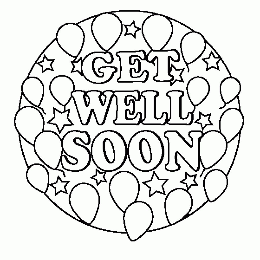 The Awesome Get Well Soon Coloring Pages Intended To Inspire To
