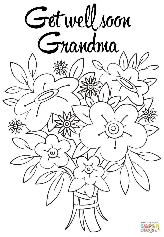 Get Well Soon Grandma Coloring Page