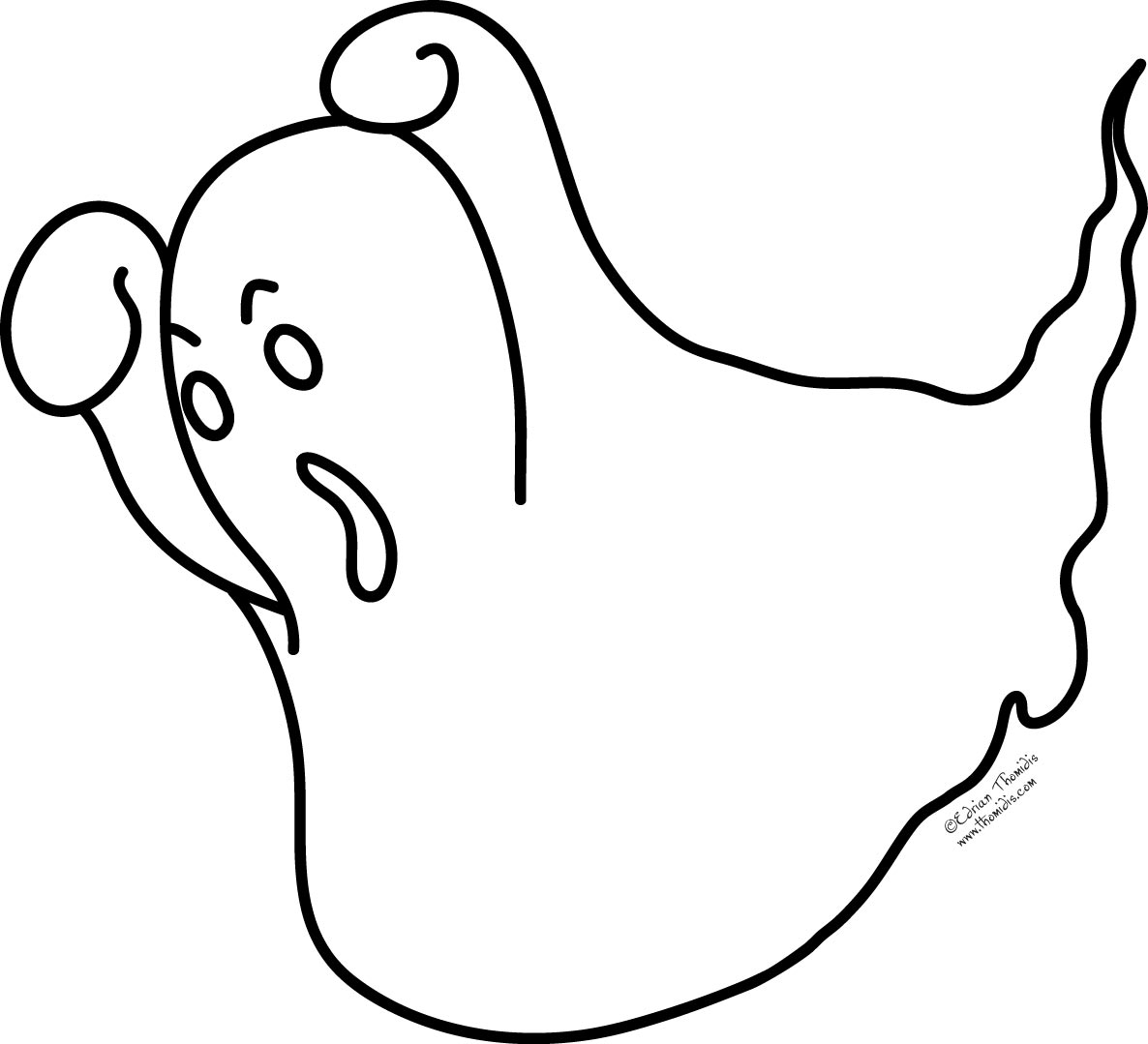 Download Ghost Coloring Pages