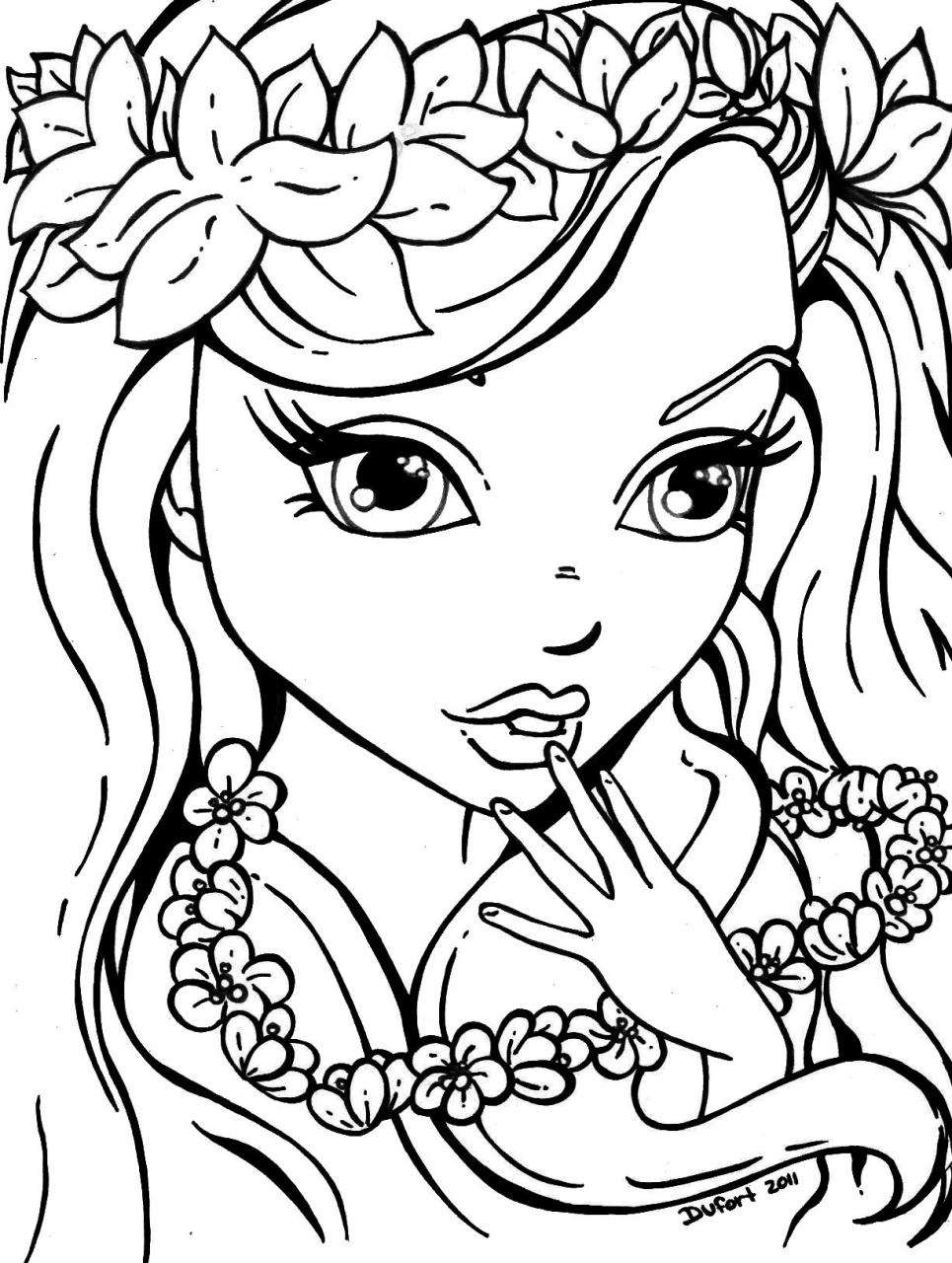 Girl Colouring Pages Throughout Printable Girls Coloring