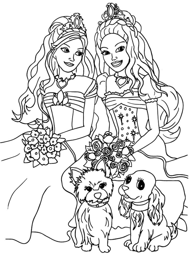 Girly Girl Coloring Pages To Print In
