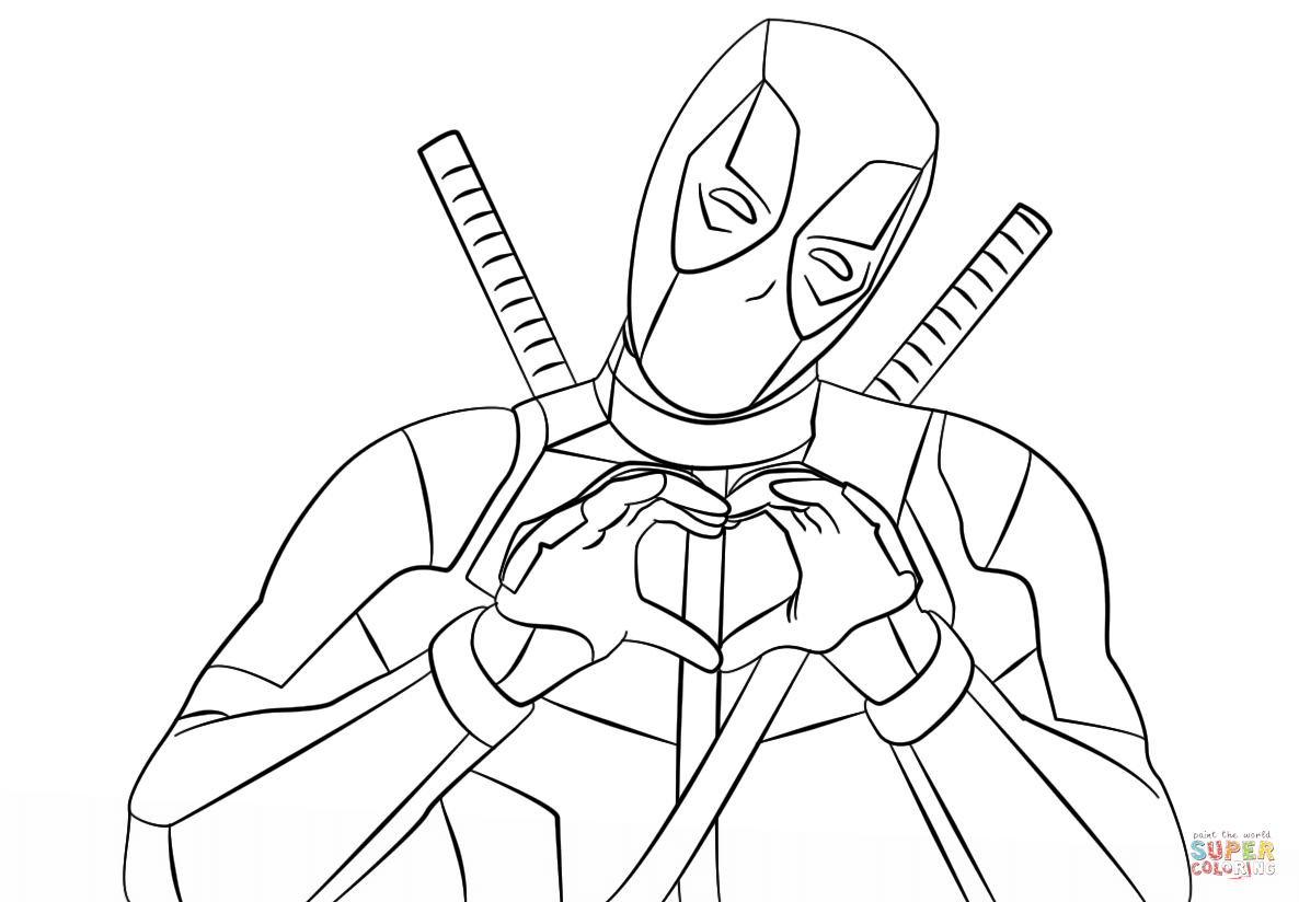 Good Deadpool Coloring Pages 39 For Coloring Print With Deadpool