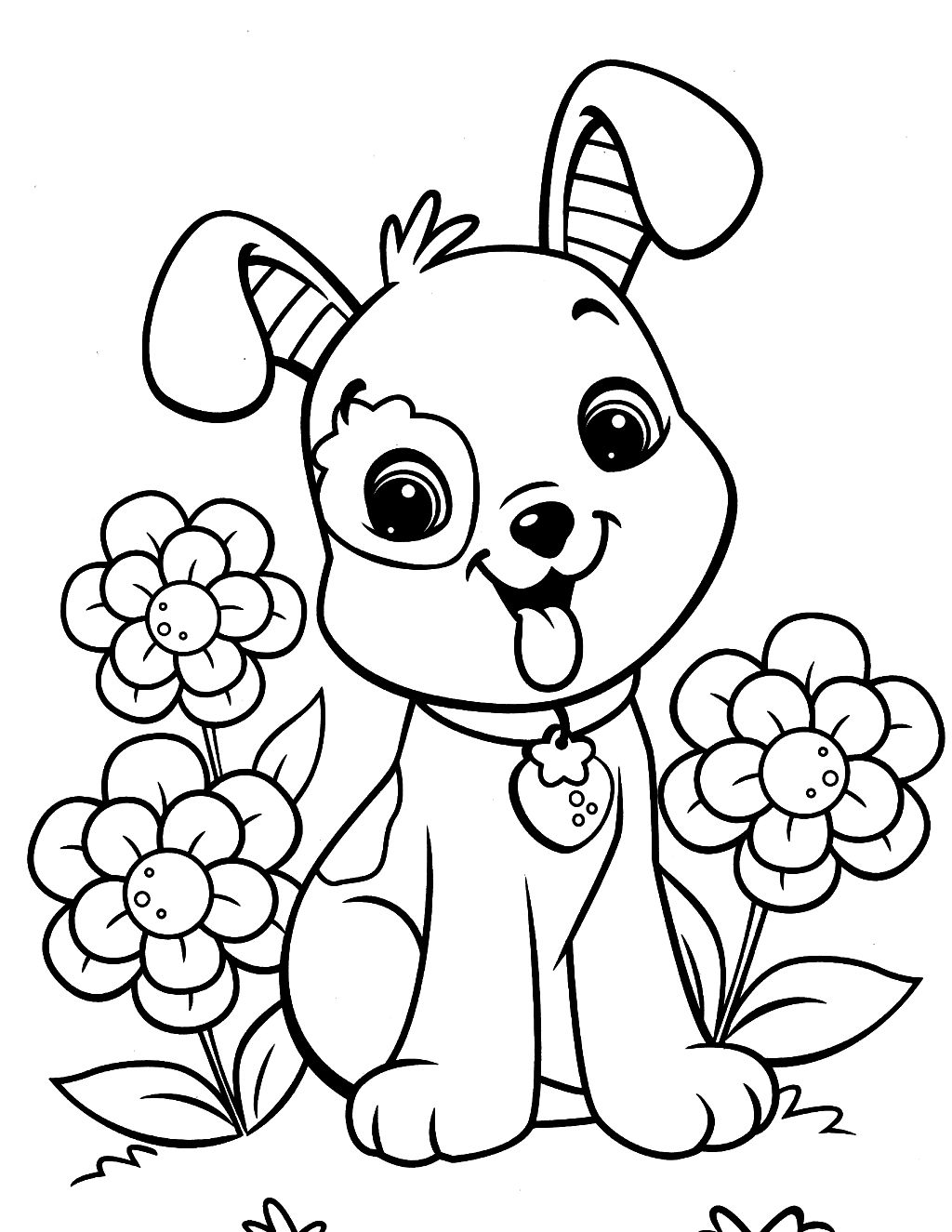 Best Dog Coloring Pages » Coloring Pages Kids