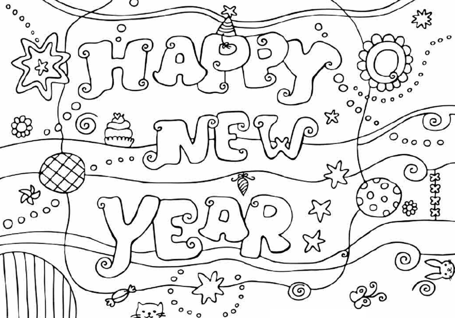 Inspirational New Year Coloring Pages 59 On Seasonal Colouring
