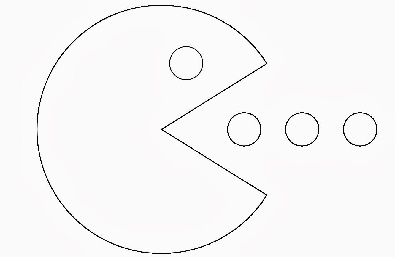 Good Pac Man Coloring Page 19 About Remodel Line Drawings With Pac