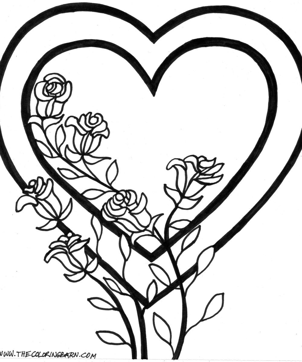 Good Rose Coloring Page 66 About Remodel Free Colouring Pages With