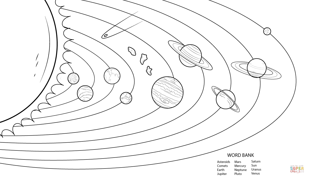 Good Solar System Coloring Pages 84 For Your Picture Coloring Page