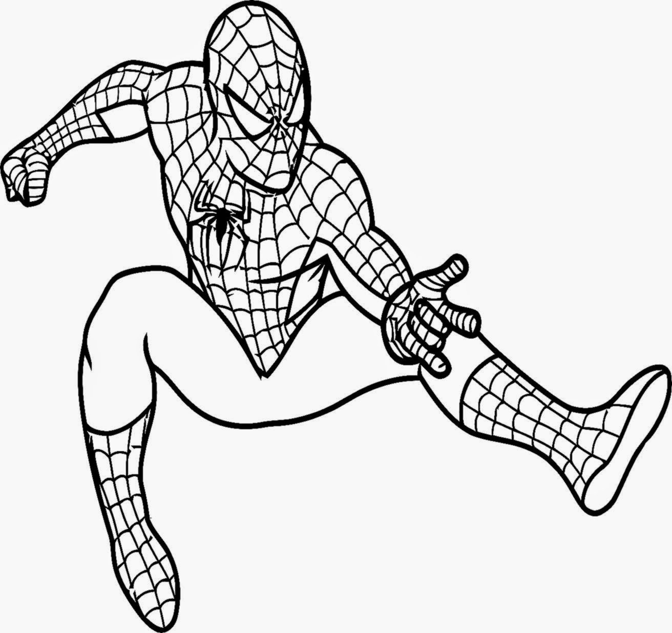 Good Spider Man Coloring Pages 45 With Additional Coloring Pages