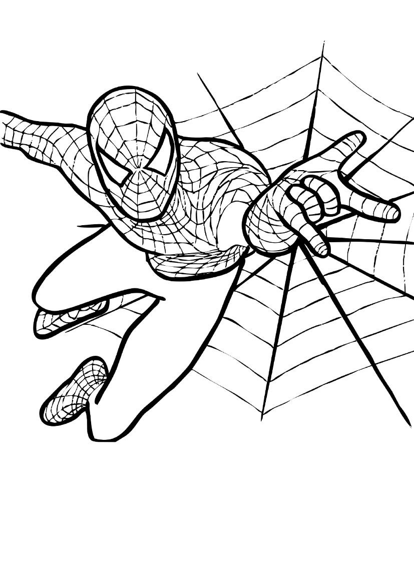 Good Spiderman Color Pages 70 For Coloring Pages For Adults With