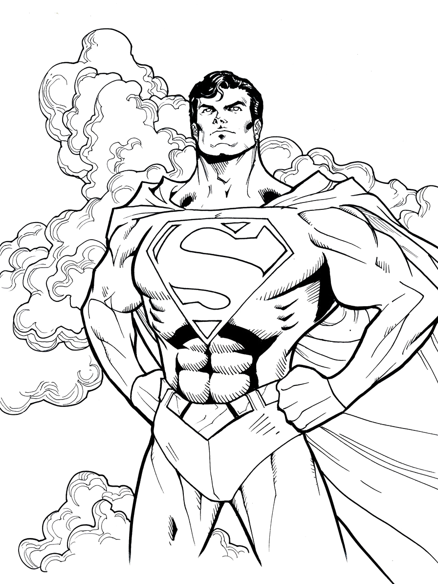 Good Superman Coloring Page 50 For Your Free Coloring Kids With