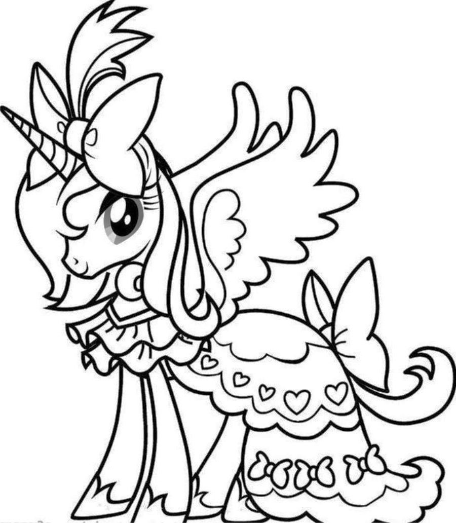 Good Unicorn Coloring Pages 45 With Additional Coloring Books With