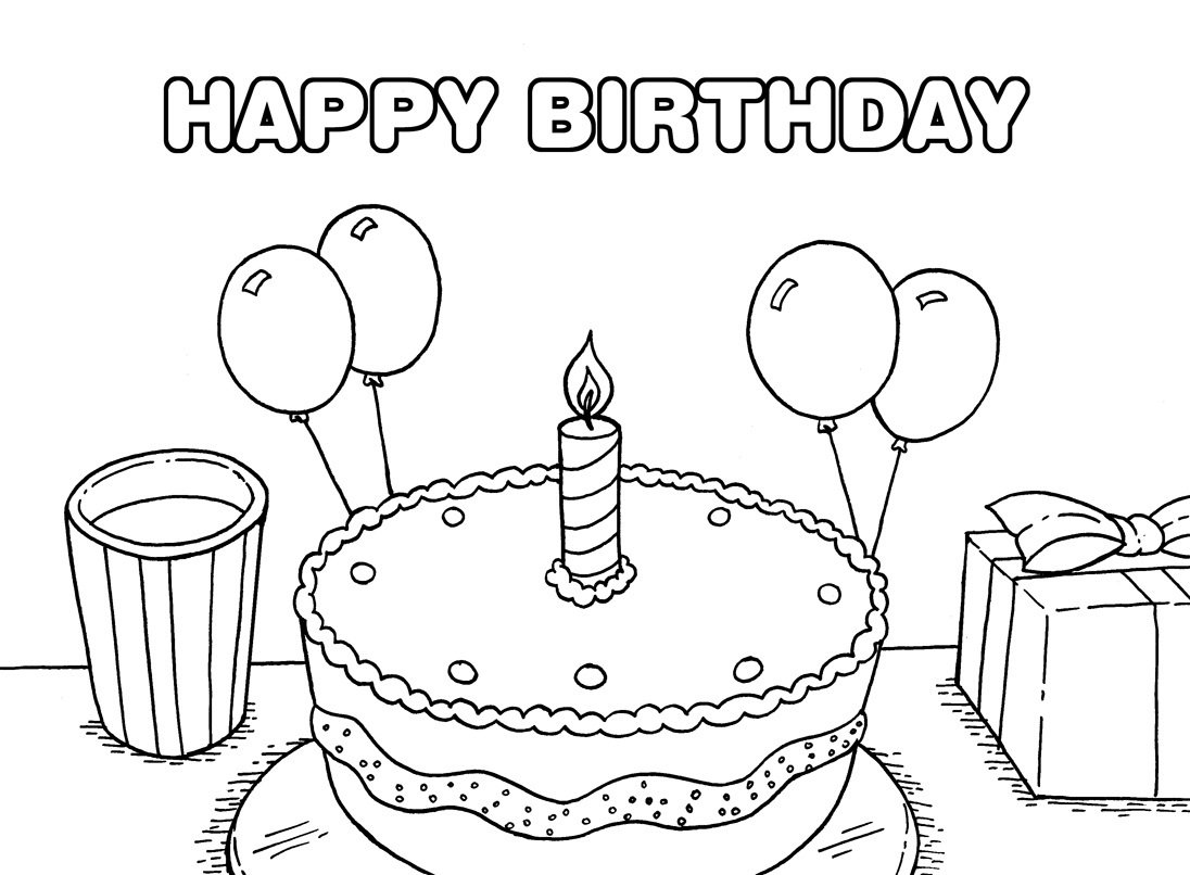 Great Happy Birthday Coloring Page 57 For Your Free Colouring