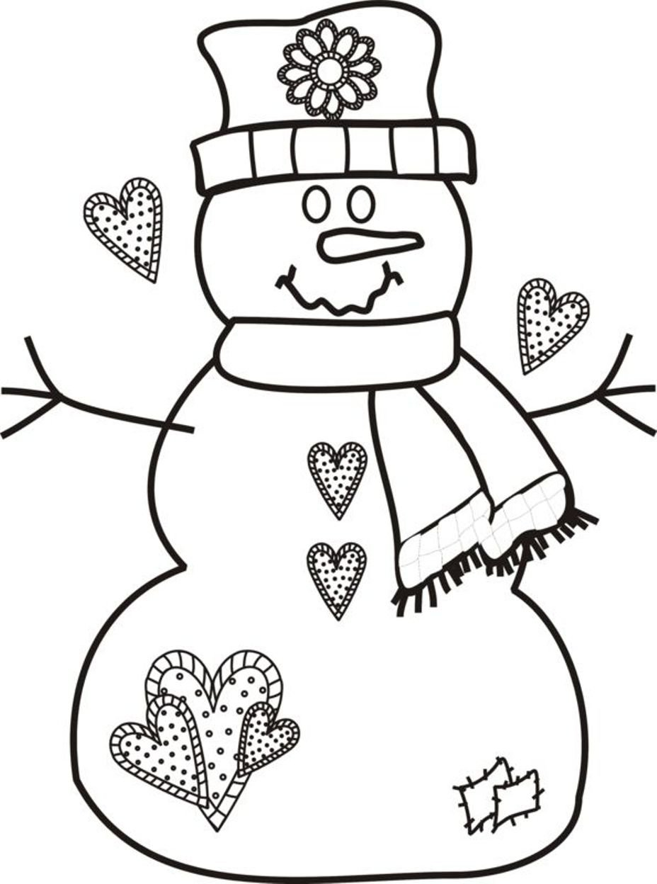 Great Snowman Coloring Pages 40 On Coloring Print With Snowman