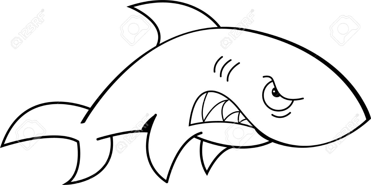 Shark Clipart Outline