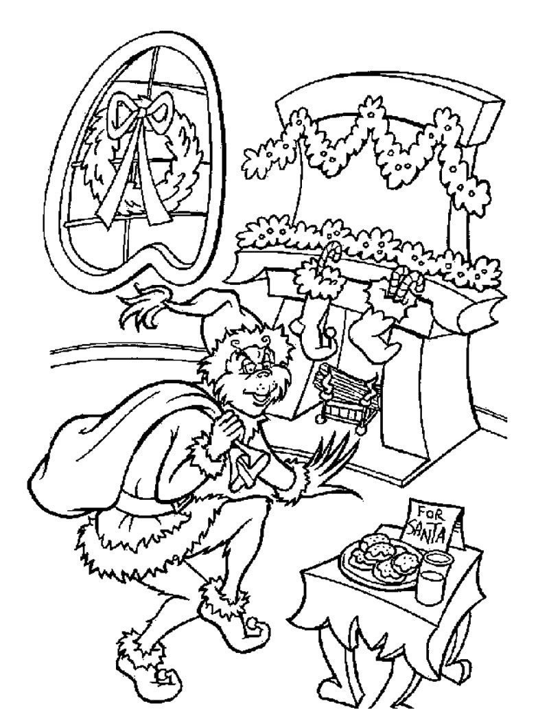 The Grinch Is Santa Claus Coloring Pages