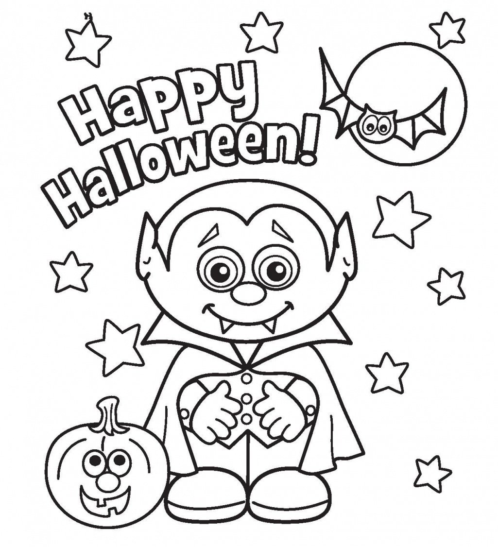 Halloween Coloring Page Pdf Inside Pages