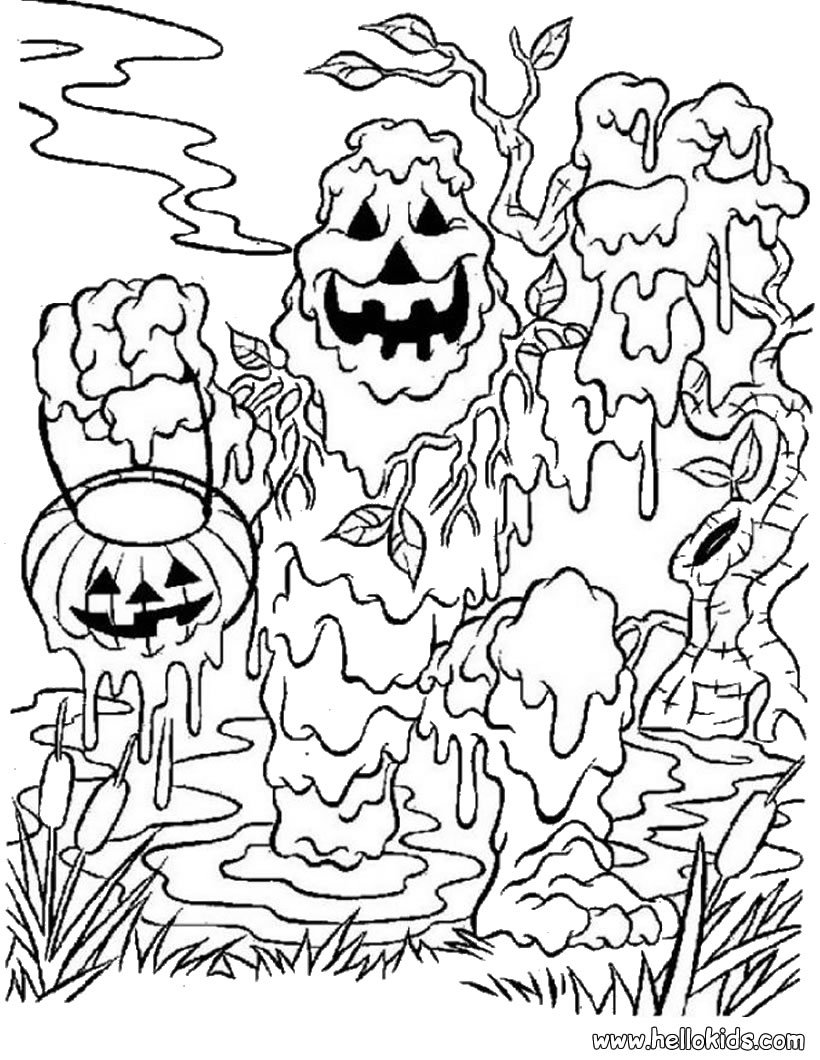 Mud Monsters Coloring Pages