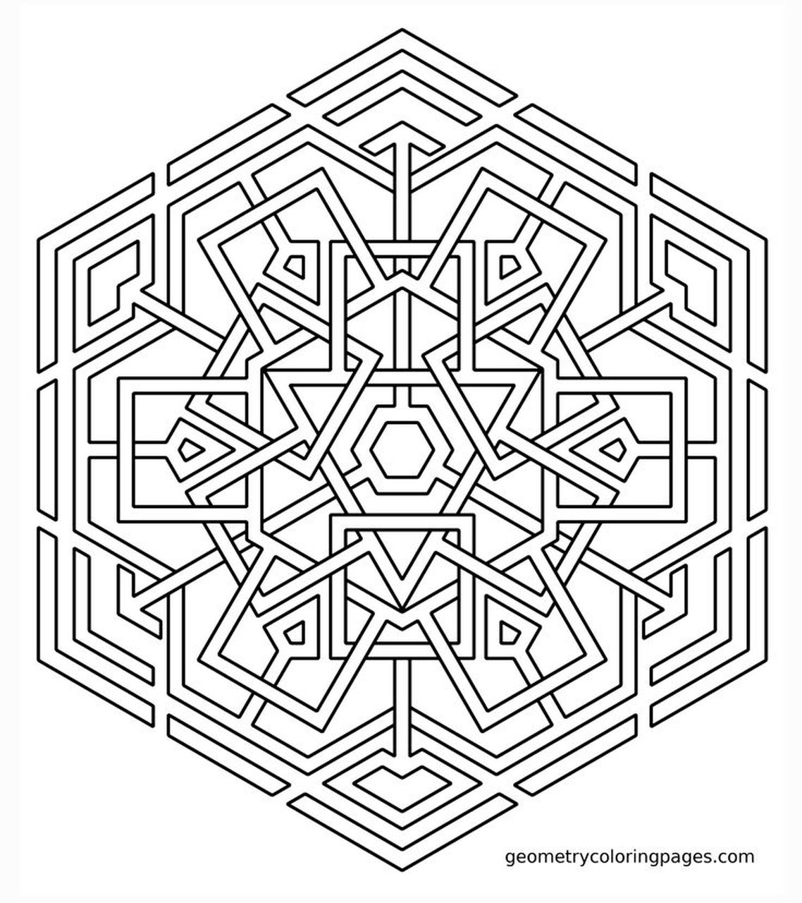 Get This Hard Geometric Coloring Pages To Print Out