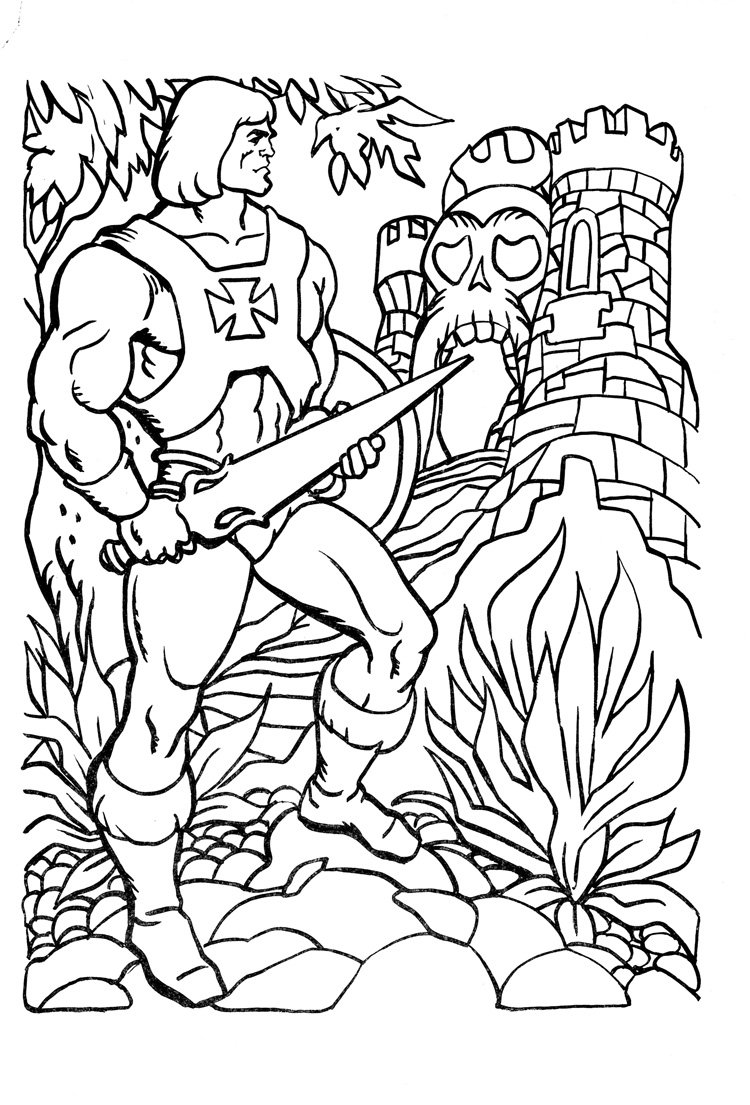 He With Man Coloring Pages