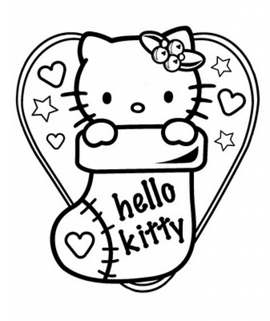 The Most Elegant Christmas Hello Kitty Coloring Pages Regarding
