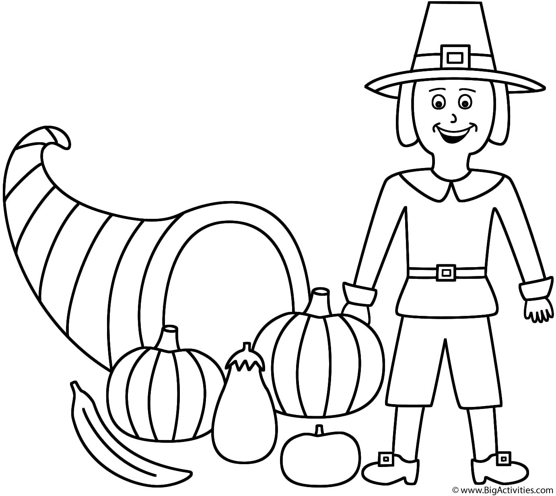 Horn Of Plenty With Pilgrim