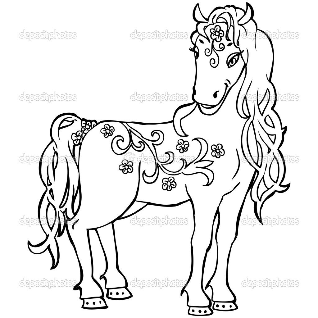 Horse Coloring Pages 09 New Horse Coloring Pages To Print For Free
