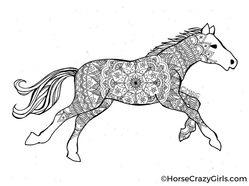Horse Coloring Pages And Printables Inside