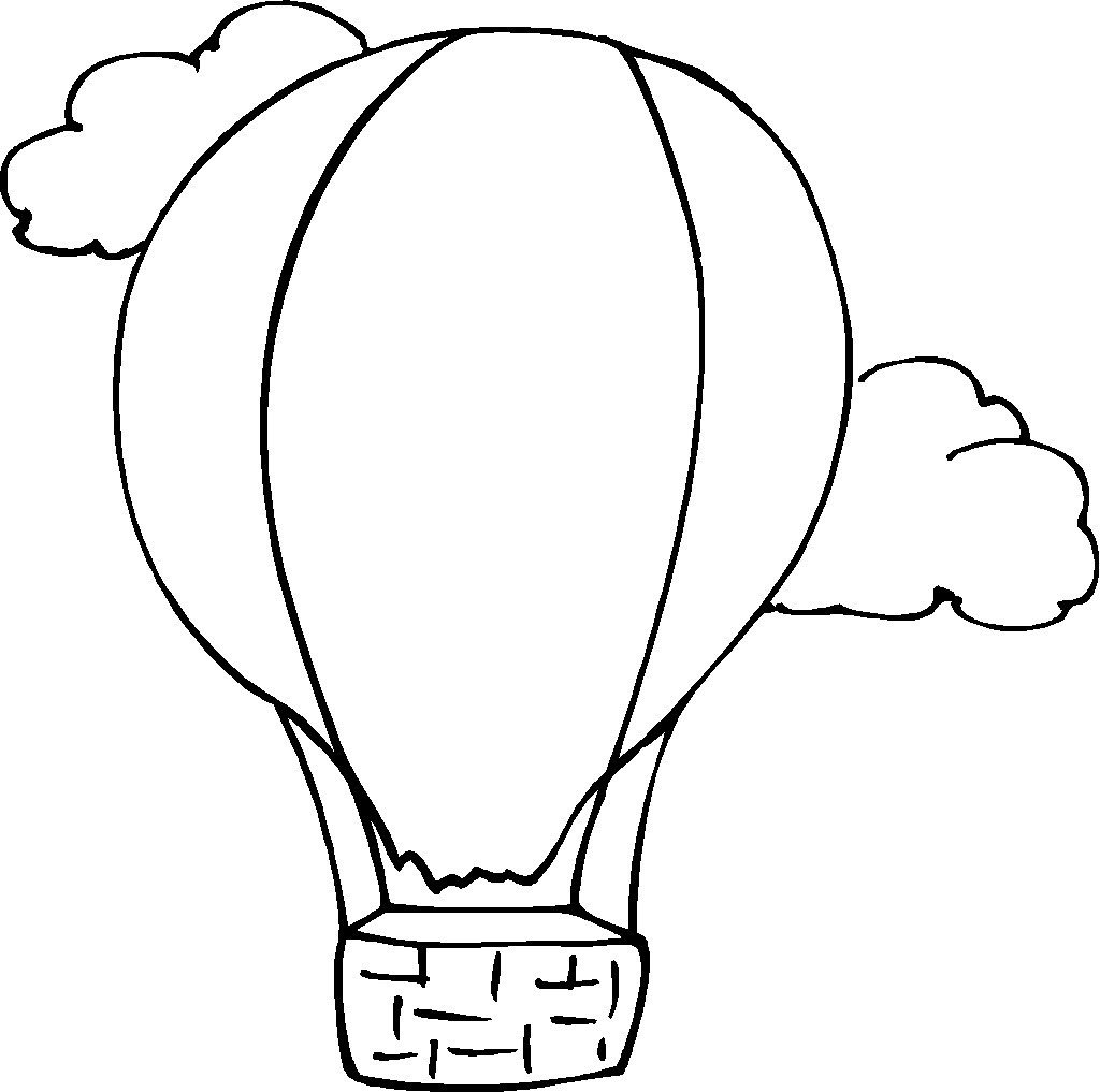 Hot Air Balloon Coloring Pages For Toddler