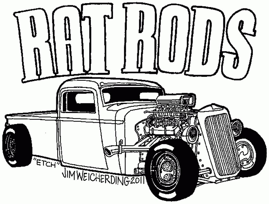 Hot Rod Coloring Pages Az Coloring Pages Within Hot Rod Coloring