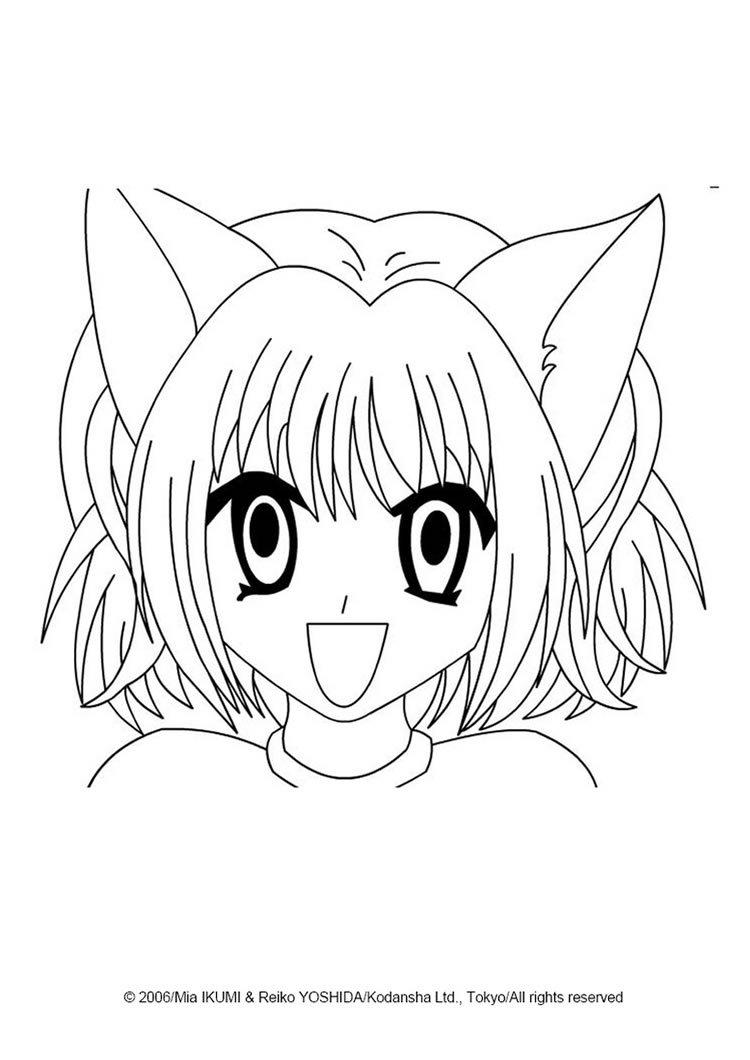 Ichigo Momomiya Coloring Pages