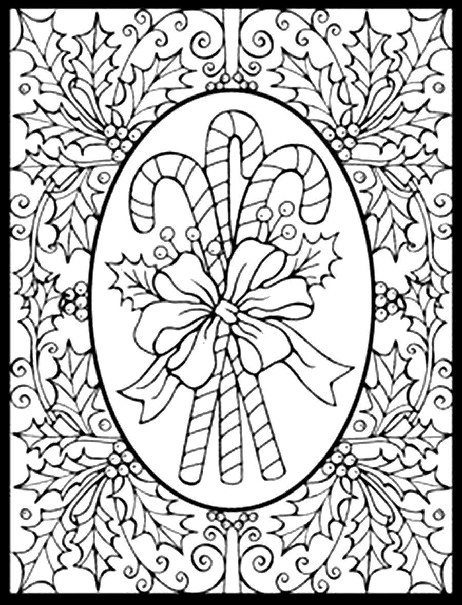 Image Result For Adult Christmas Coloring Pages Throughout Free