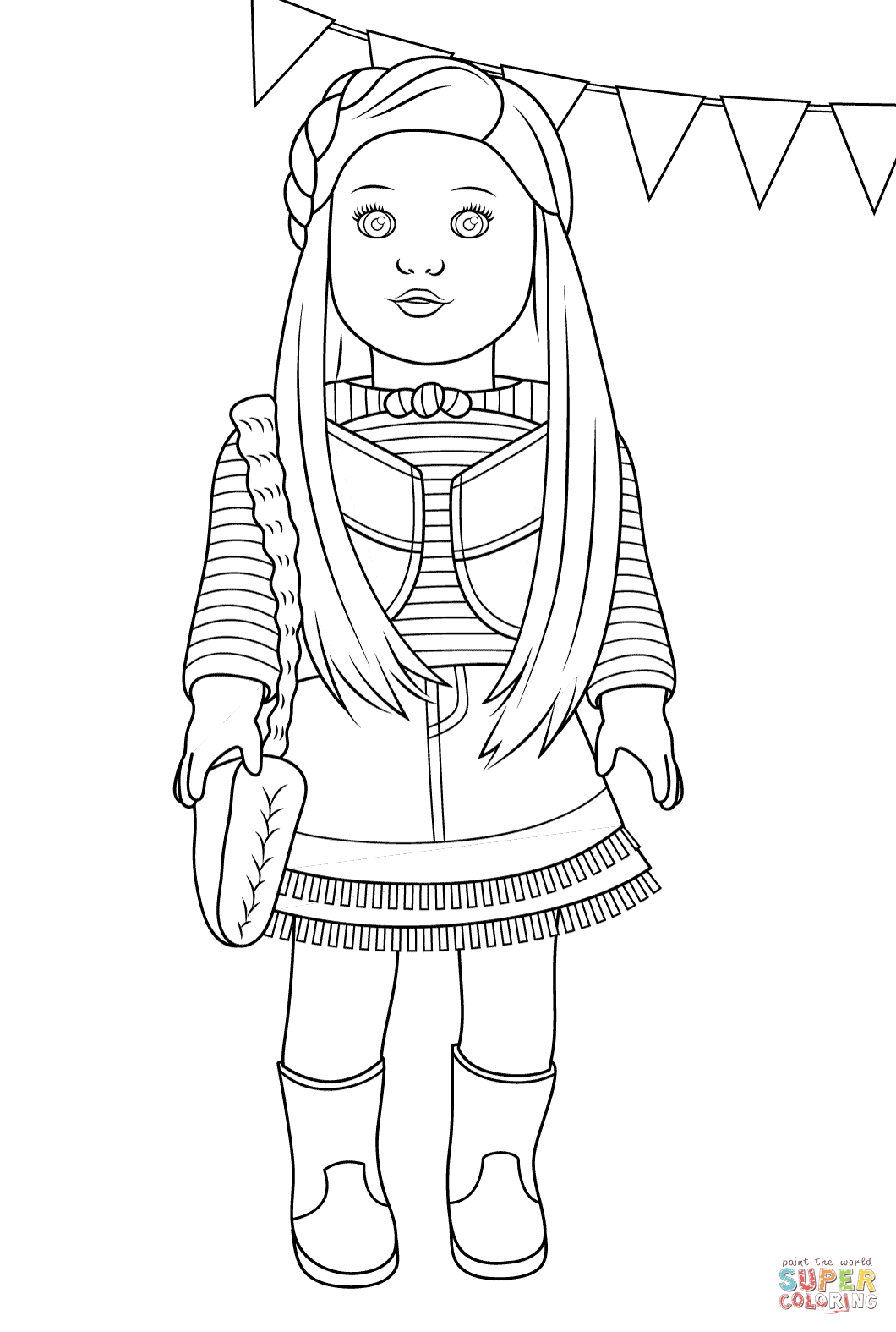 Images American Girl Doll Coloring Pages 93 For Pictures With