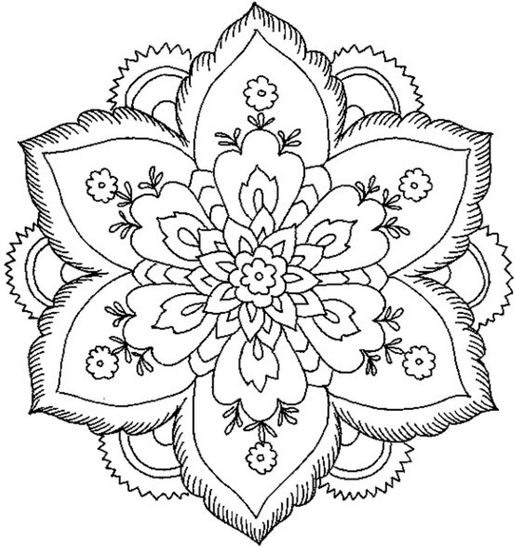 Images Flower Mandala Coloring Pages 57 For Your Picture With