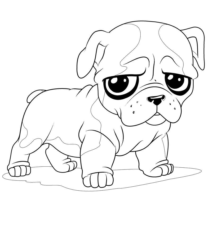 Impressive Bulldog Coloring Pages Nice Colorin  3495