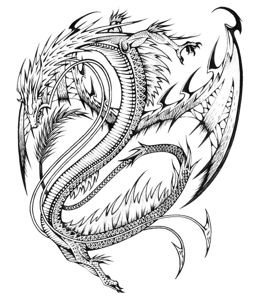 Innovative Free Dragon Coloring Pages Top Kids  6866
