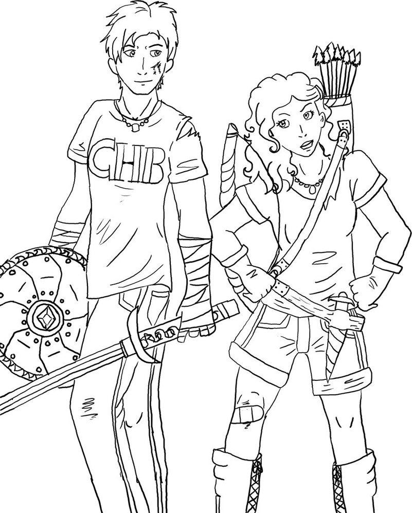 Inspirational Percy Jackson Coloring Pages 49 With Additional Line