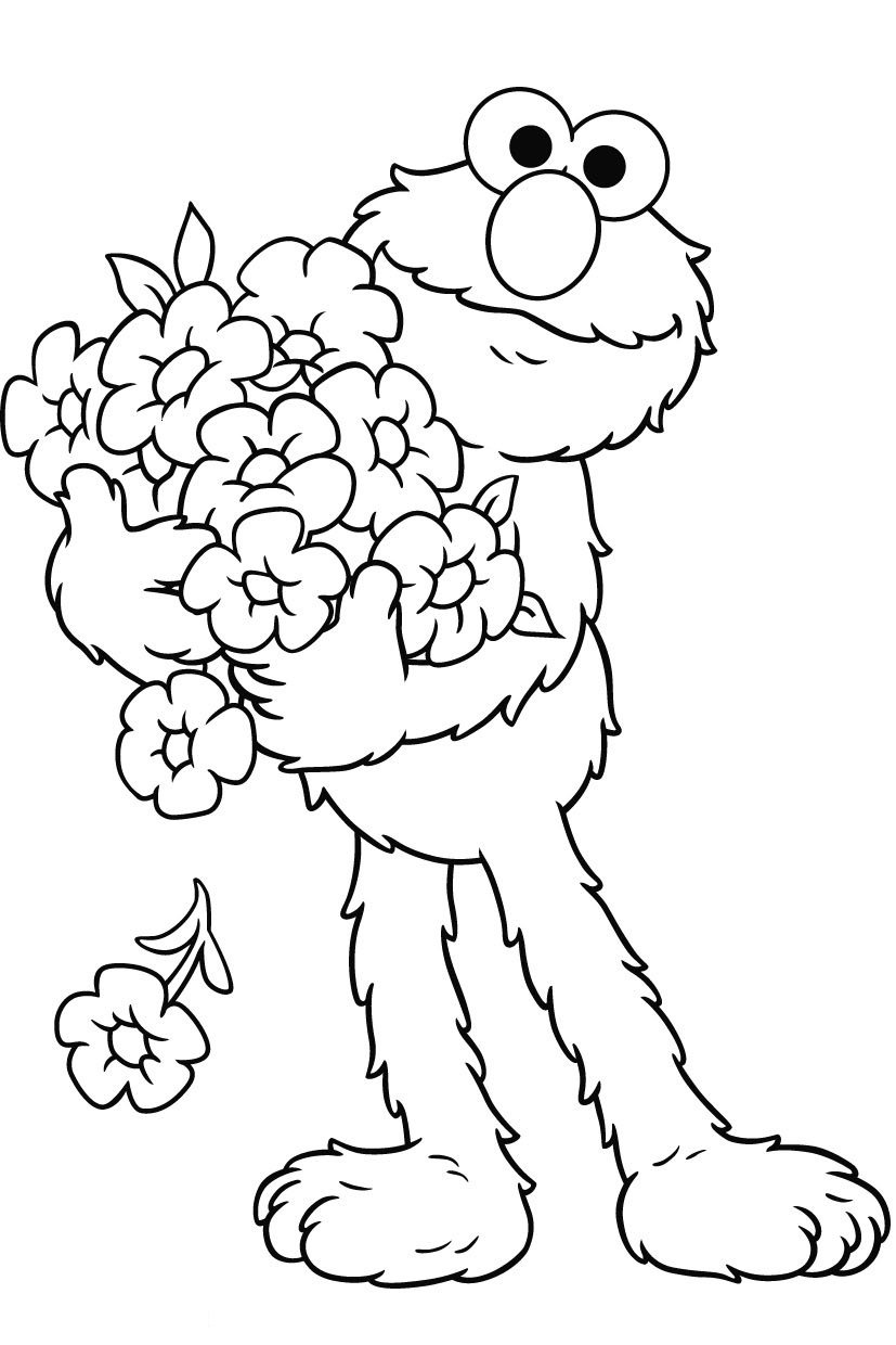 Inspirational Printable Elmo Coloring Pages 97 For Coloring Print