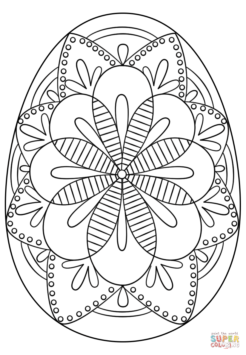 Intricate Easter Egg Coloring Page