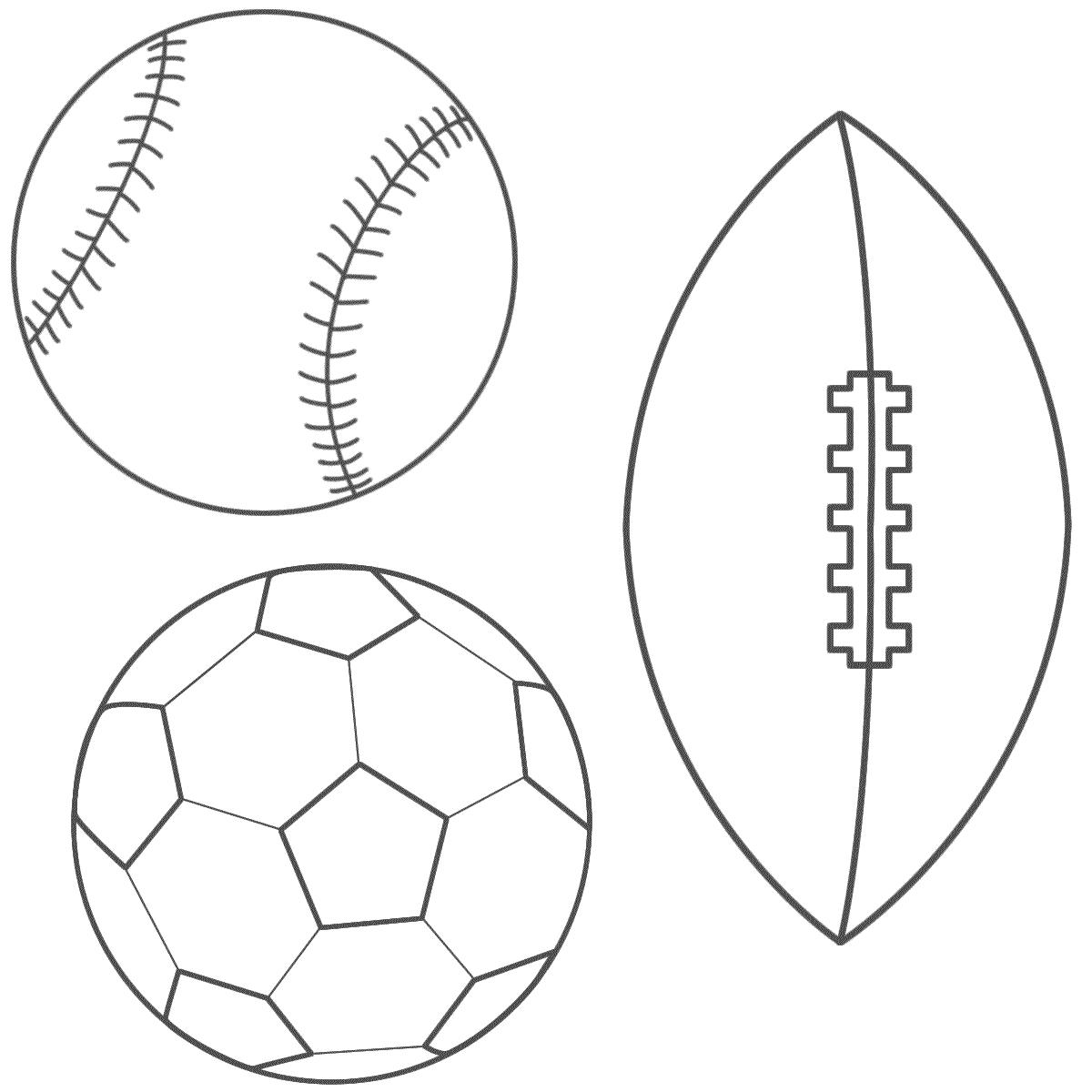 Baseball, Soccer Ball And Football