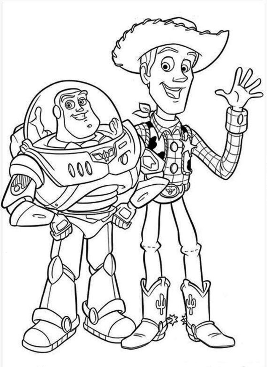 Kids Printable Toy Story Coloring Pages New On Set Animal Coloring