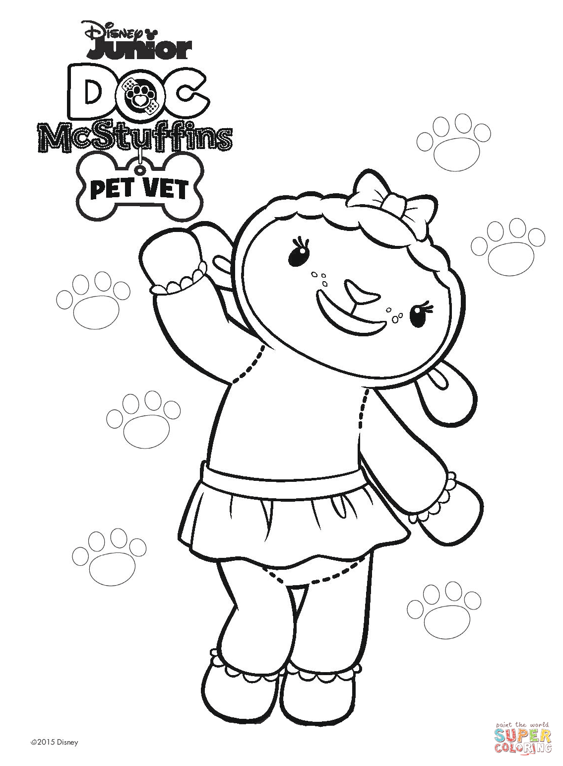 Lambie From Doc Mcstuffins Coloring Page And Mcstuffins Printable