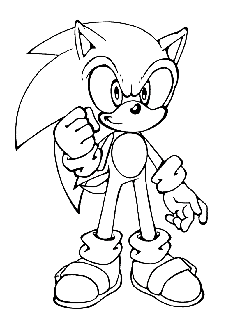Baby Sonic Coloring Pages